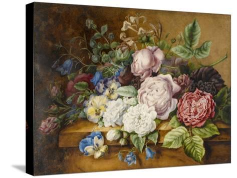 Flowers on a Ledge, 1814-Ernestine Panckoucke-Stretched Canvas Print