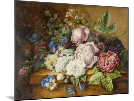 Flowers on a Ledge, 1814-Ernestine Panckoucke-Mounted Giclee Print