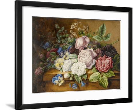 Flowers on a Ledge, 1814-Ernestine Panckoucke-Framed Art Print