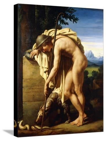 A Shepherd Weeping on a Tomb Erected to a Gnat, 1808-Felix Boisselier-Stretched Canvas Print