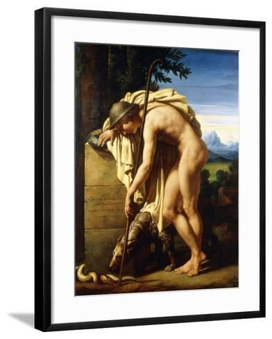 A Shepherd Weeping on a Tomb Erected to a Gnat, 1808-Felix Boisselier-Framed Art Print