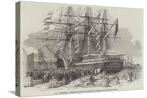 Departure of the Ballengeich Emigrant Ship from Southampton-Edwin Weedon-Stretched Canvas Print