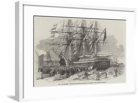 Departure of the Ballengeich Emigrant Ship from Southampton-Edwin Weedon-Framed Art Print