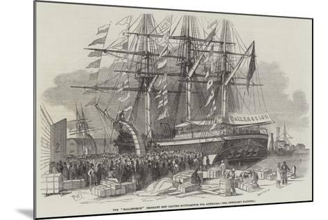 Departure of the Ballengeich Emigrant Ship from Southampton-Edwin Weedon-Mounted Giclee Print
