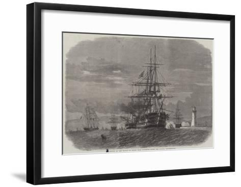 Departure of the Prince of Wales from Plymouth Sound for Canada-Edwin Weedon-Framed Art Print