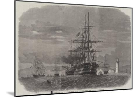 Departure of the Prince of Wales from Plymouth Sound for Canada-Edwin Weedon-Mounted Giclee Print