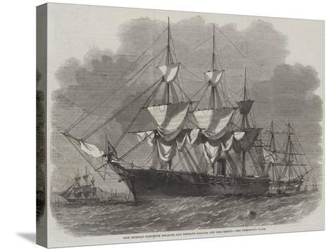 The Russian Corvette Bogatir and Frigate Osliaba Off Gravesend-Edwin Weedon-Stretched Canvas Print