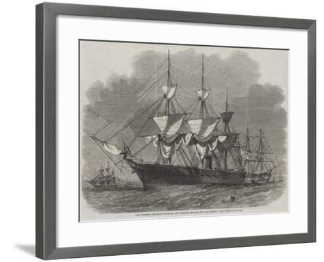 The Russian Corvette Bogatir and Frigate Osliaba Off Gravesend-Edwin Weedon-Framed Art Print