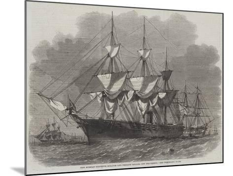 The Russian Corvette Bogatir and Frigate Osliaba Off Gravesend-Edwin Weedon-Mounted Giclee Print