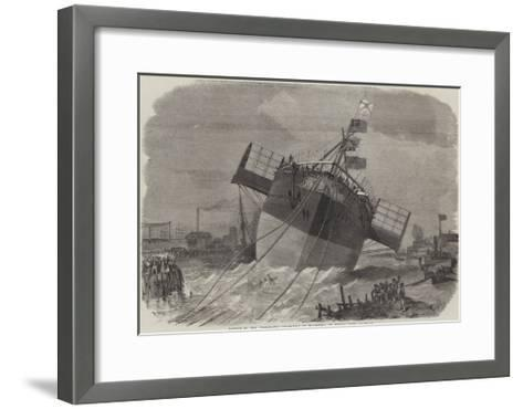 Launch of the Paramatta Steam-Ship at Blackwall on Monday Week-Edwin Weedon-Framed Art Print