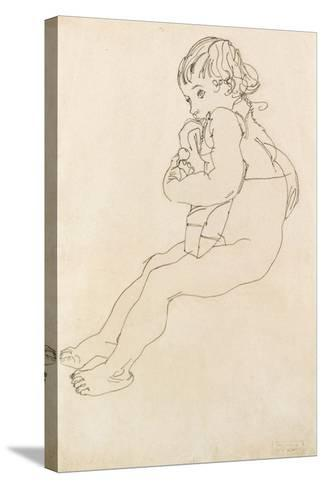 Seated Child, 1916-Egon Schiele-Stretched Canvas Print