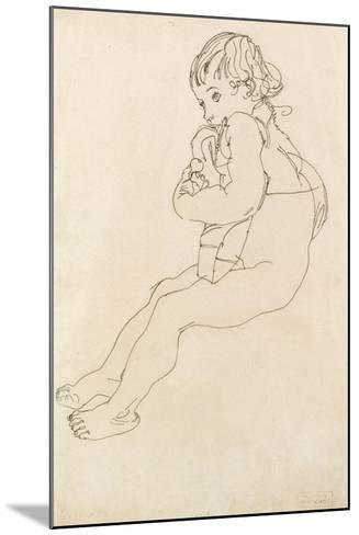 Seated Child, 1916-Egon Schiele-Mounted Giclee Print