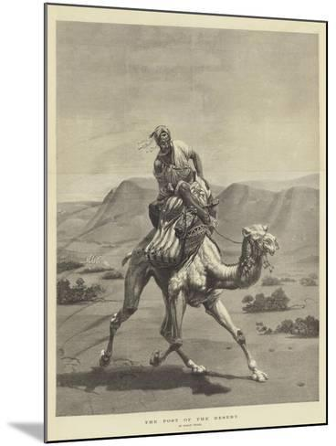 The Post of the Desert-Emile Jean Horace Vernet-Mounted Giclee Print