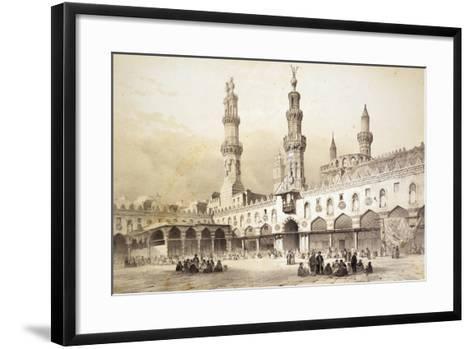Main Courtyard of Al-Azhar Mosque (10th Century) in Cairo-Emile Prisse d'Avennes-Framed Art Print