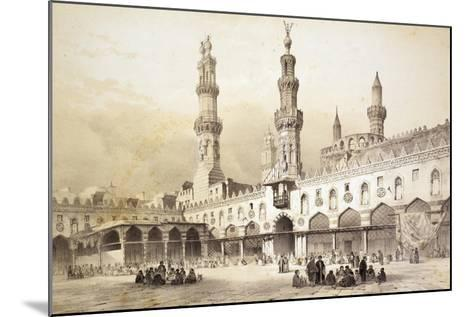 Main Courtyard of Al-Azhar Mosque (10th Century) in Cairo-Emile Prisse d'Avennes-Mounted Giclee Print