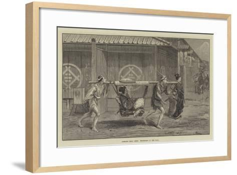 Sketches from Japan, Travelling in the Kago-Felix Regamey-Framed Art Print