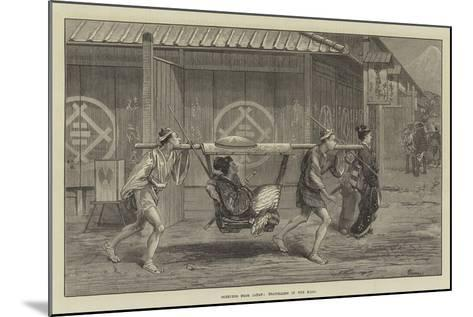 Sketches from Japan, Travelling in the Kago-Felix Regamey-Mounted Giclee Print