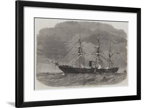 The Federal Sloop-Of-War Tuscarora in Southampton Water-Edwin Weedon-Framed Art Print