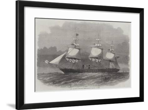 Her Majesty's Iron-Clad Steam-Frigate Warrior, 40 Guns-Edwin Weedon-Framed Art Print