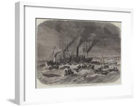 Scene on the River Thames During the Gale on Sunday, 19 March-Edwin Weedon-Framed Art Print