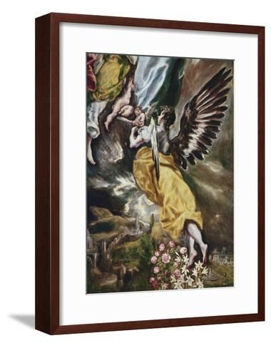 The Immaculate Conception (Detail of Angel-El Greco-Framed Art Print
