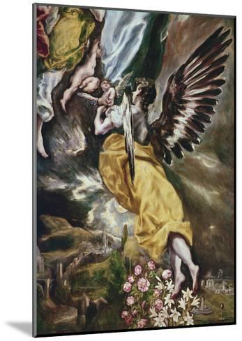 The Immaculate Conception (Detail of Angel-El Greco-Mounted Giclee Print
