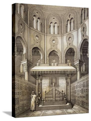 Tomb of Sultan Qalaum (14th Century) in Cairo-Emile Prisse d'Avennes-Stretched Canvas Print