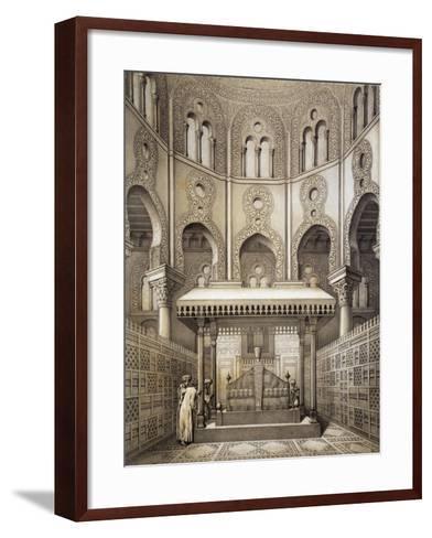 Tomb of Sultan Qalaum (14th Century) in Cairo-Emile Prisse d'Avennes-Framed Art Print