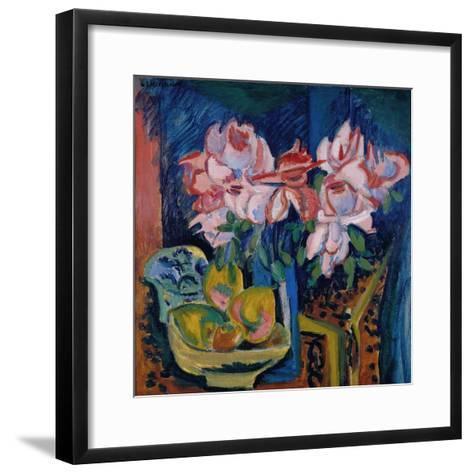 Pink Roses, 1918-Ernst Ludwig Kirchner-Framed Art Print