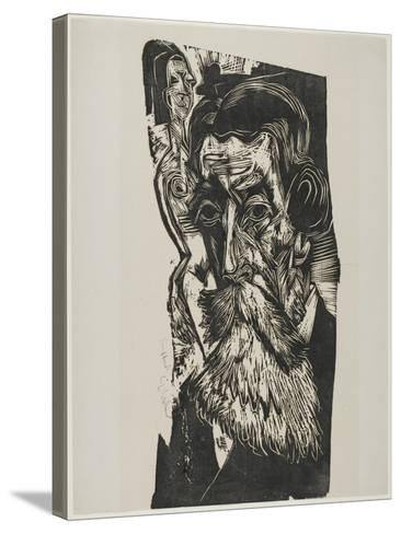 Portrait of Ludwig Schames, 1917-1918-Ernst Ludwig Kirchner-Stretched Canvas Print