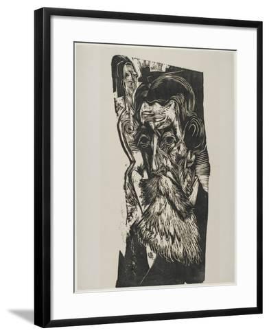 Portrait of Ludwig Schames, 1917-1918-Ernst Ludwig Kirchner-Framed Art Print