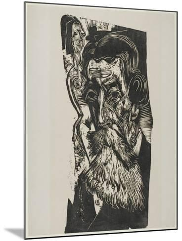 Portrait of Ludwig Schames, 1917-1918-Ernst Ludwig Kirchner-Mounted Giclee Print
