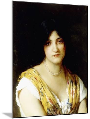 A Mediterranean Beauty-Eugen Von Blaas-Mounted Giclee Print