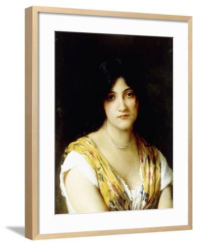 A Mediterranean Beauty-Eugen Von Blaas-Framed Art Print