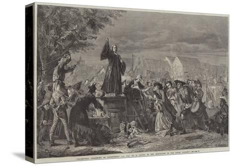 Whitefield Preaching in Moorfields, Ad 1742-Eyre Crowe-Stretched Canvas Print