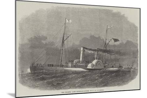 The Colonel Lamb Blockade-Runner, Built at Liverpool-Edwin Weedon-Mounted Giclee Print