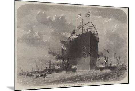 The Leviathan Towed to Her Moorings Off Deptford-Edwin Weedon-Mounted Giclee Print