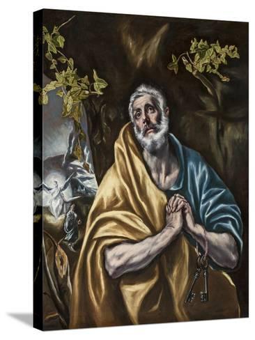 The Penitent Saint Peter, C.1590-95-El Greco-Stretched Canvas Print