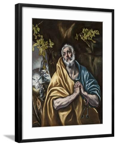 The Penitent Saint Peter, C.1590-95-El Greco-Framed Art Print