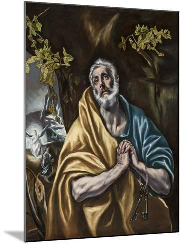 The Penitent Saint Peter, C.1590-95-El Greco-Mounted Giclee Print