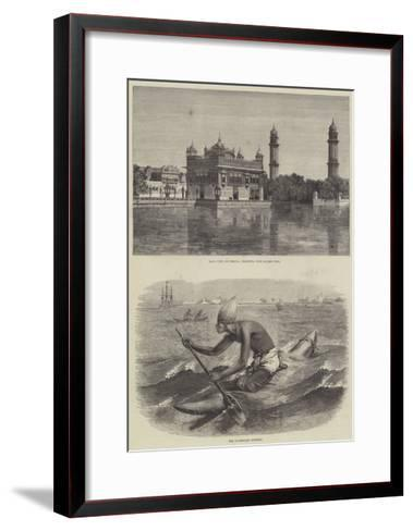 India and the Prince of Wales-Emile Theodore Therond-Framed Art Print