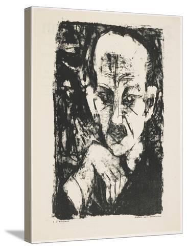 Portrait of Carl Sternheim, 1916-Ernst Ludwig Kirchner-Stretched Canvas Print
