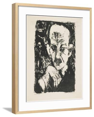 Portrait of Carl Sternheim, 1916-Ernst Ludwig Kirchner-Framed Art Print