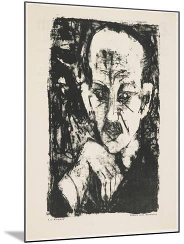 Portrait of Carl Sternheim, 1916-Ernst Ludwig Kirchner-Mounted Giclee Print