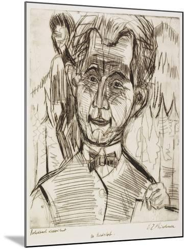 Portrait of Dr. Redslob, 1924-Ernst Ludwig Kirchner-Mounted Giclee Print