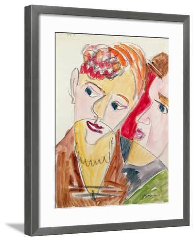 Lovers H 'Die Hembusse', 1931-Ernst Ludwig Kirchner-Framed Art Print