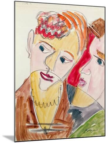 Lovers H 'Die Hembusse', 1931-Ernst Ludwig Kirchner-Mounted Giclee Print