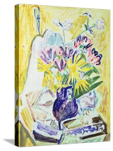 Flowers in a Vase, 1918-19-Ernst Ludwig Kirchner-Stretched Canvas Print