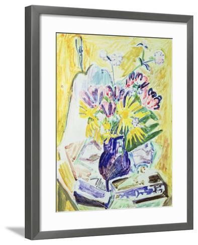 Flowers in a Vase, 1918-19-Ernst Ludwig Kirchner-Framed Art Print