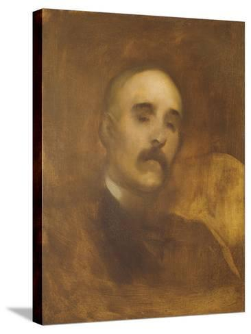 Georges Clemenceau (1841-1929)-Eugene Carriere-Stretched Canvas Print